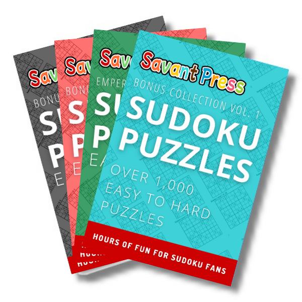Savant Press Sudoku Puzzle Books